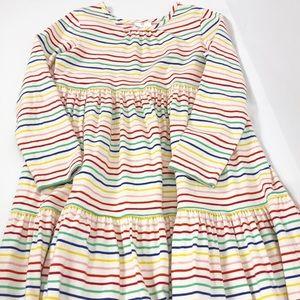 Hanna Andersson Rainbow Stripe Long Dress Sz 130